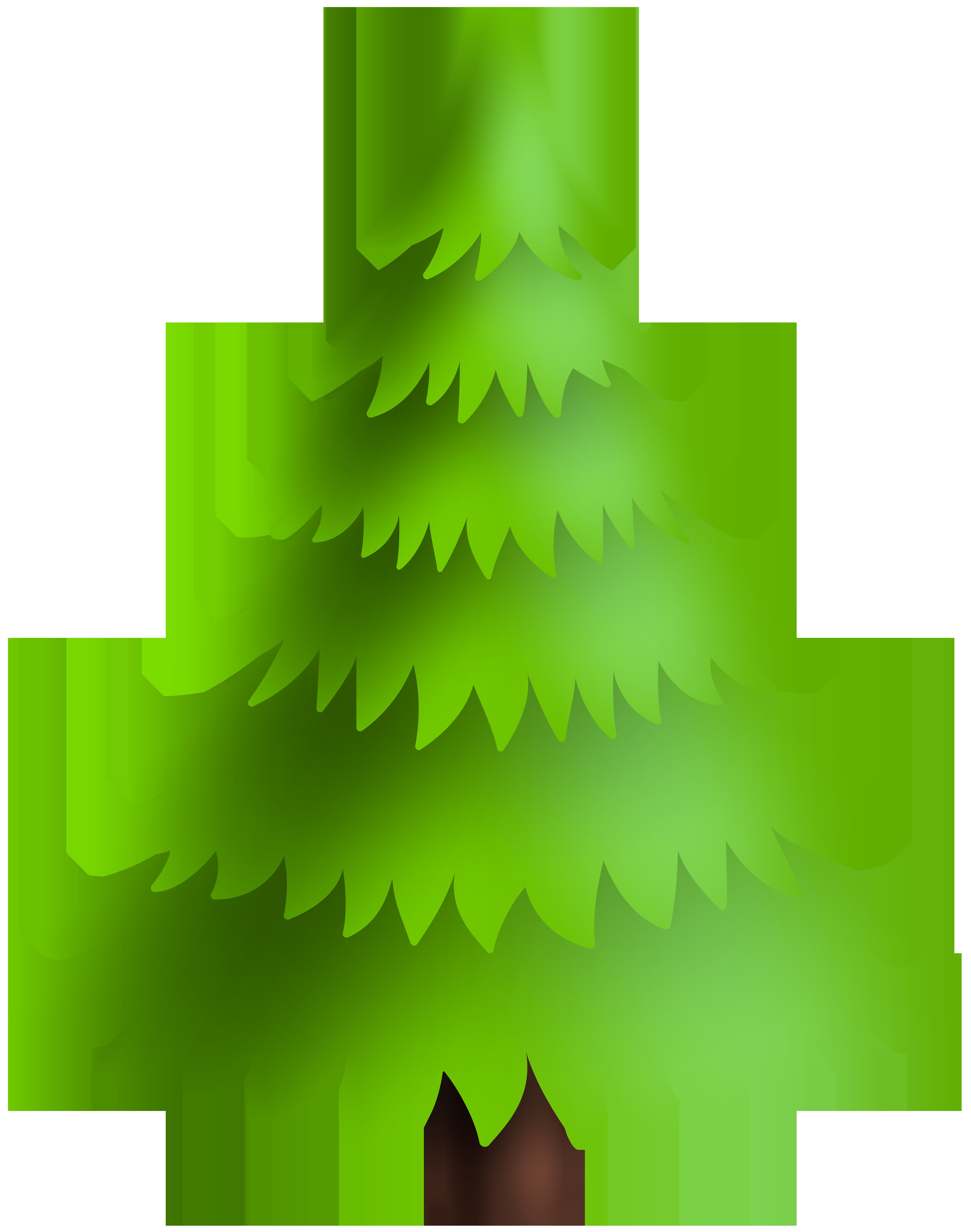 Christmas Pine Tree Green Clip Art Image.