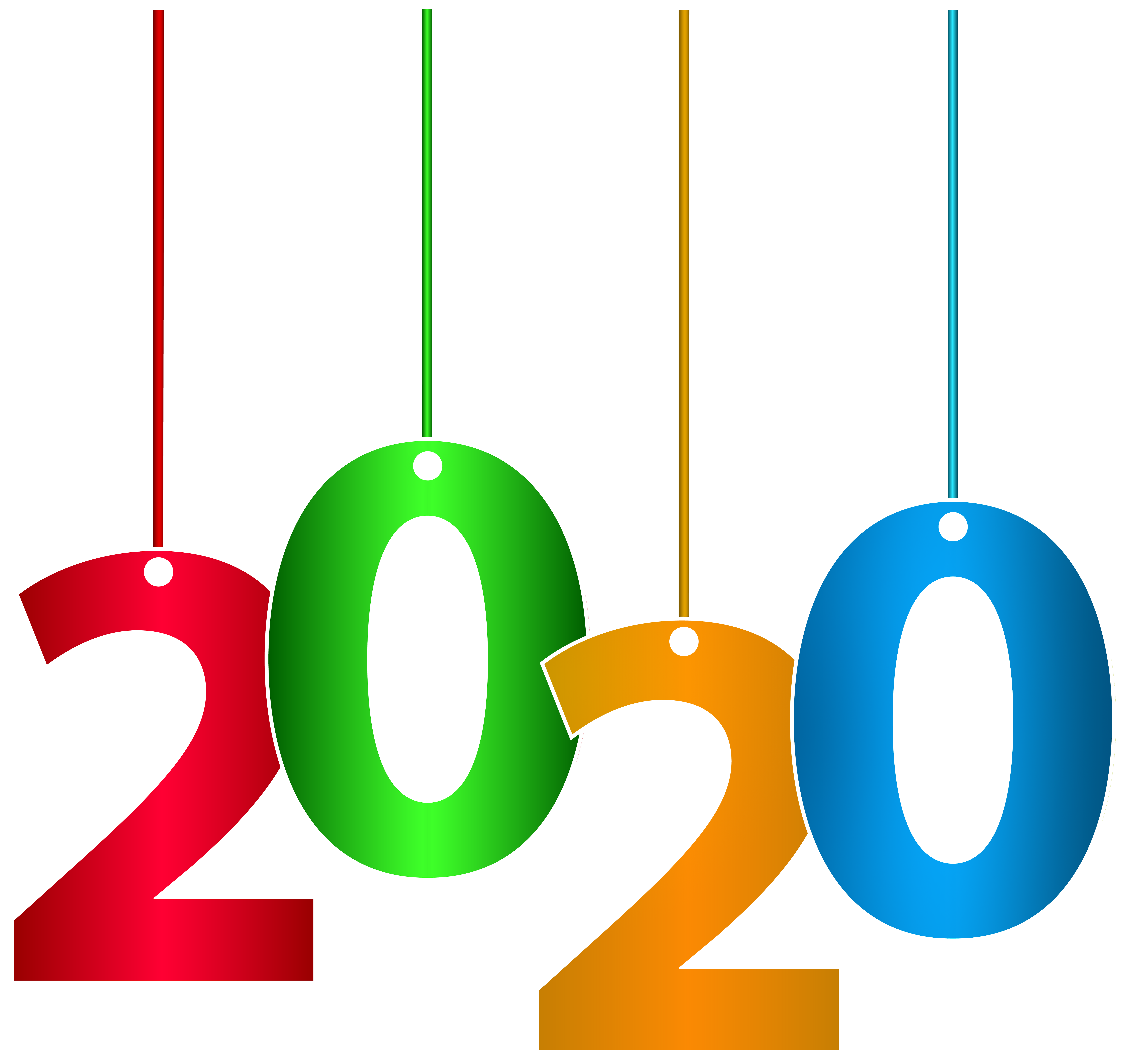 2020 Hanging Transparent Clipart PNG Image.