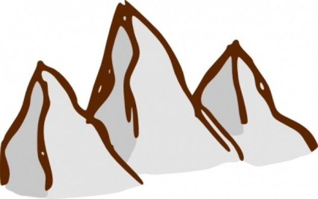 High Mountain Range Clipart.