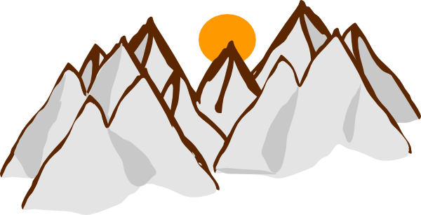 High Mountain Range Clipart.