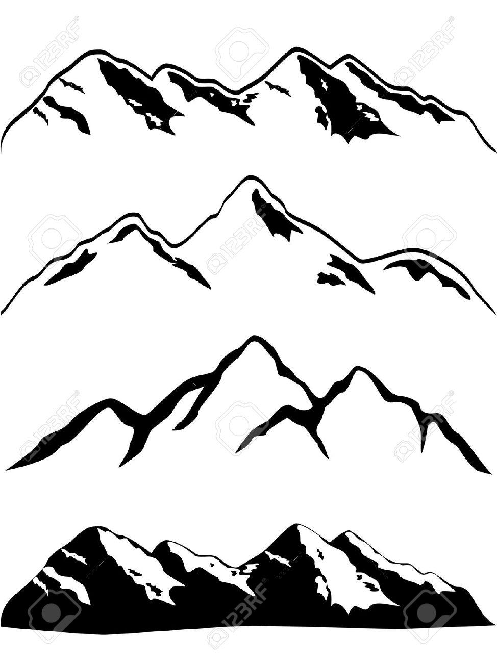 Snowcap mountain clipart.