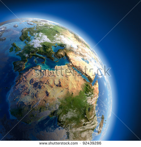 Africa Continent Map Stock Photos, Royalty.