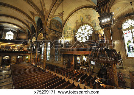 Stock Photography of interior of High Renaissance style Church.