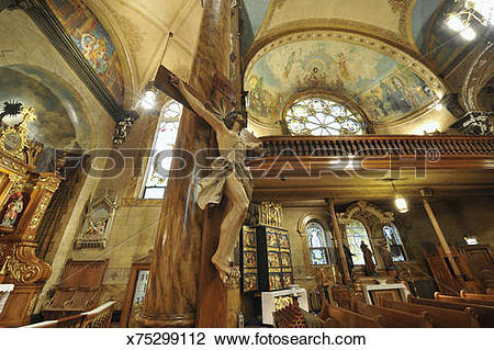 Stock Photo of interior of High Renaissance style Church x75299112.