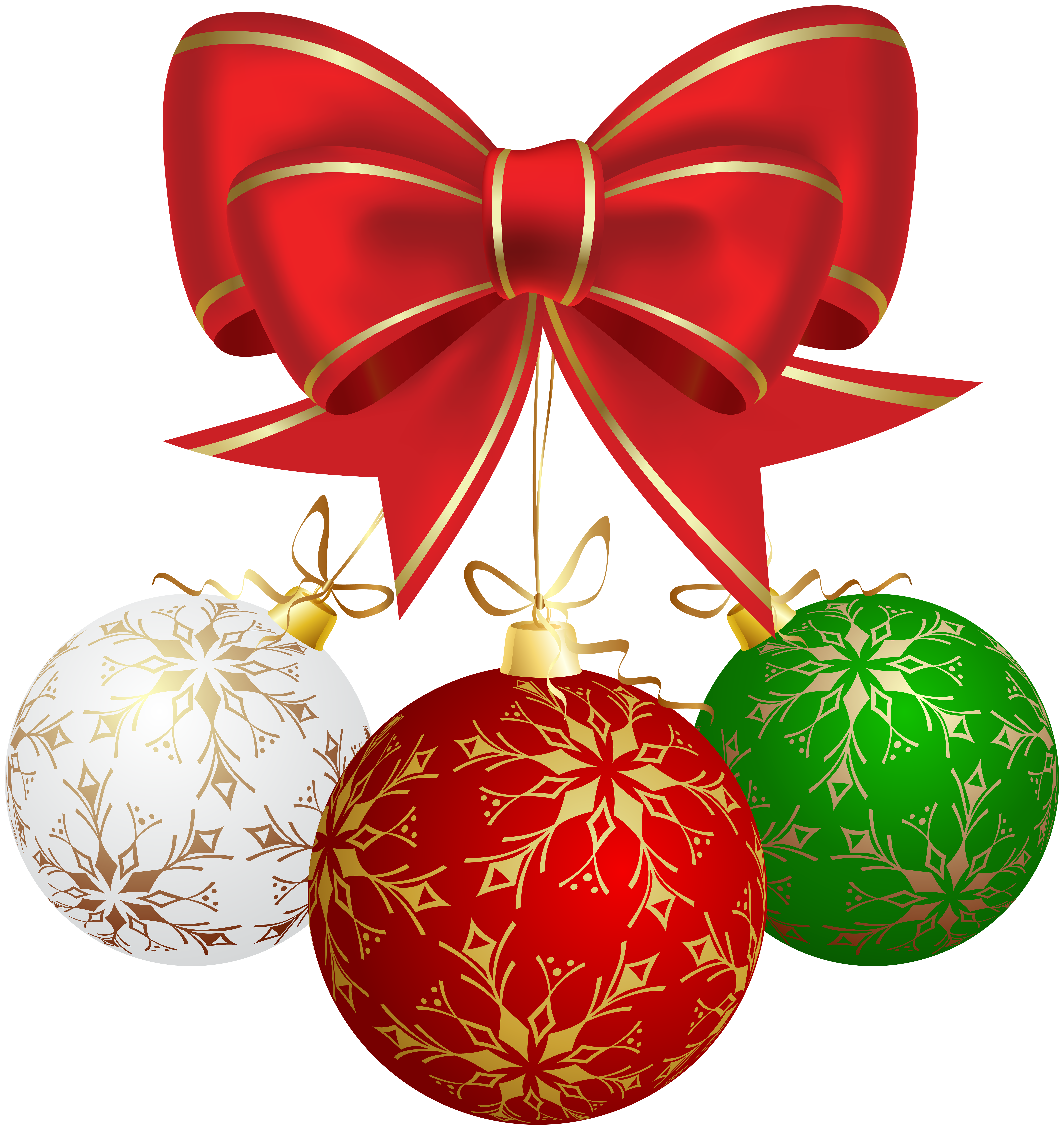 Christmas Balls PNG Clip Art Image.