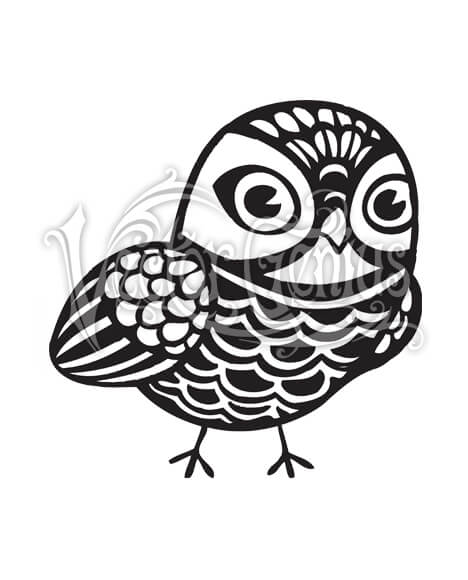 High Resolution Patterned Cute Owl Clip Art Stock Art.
