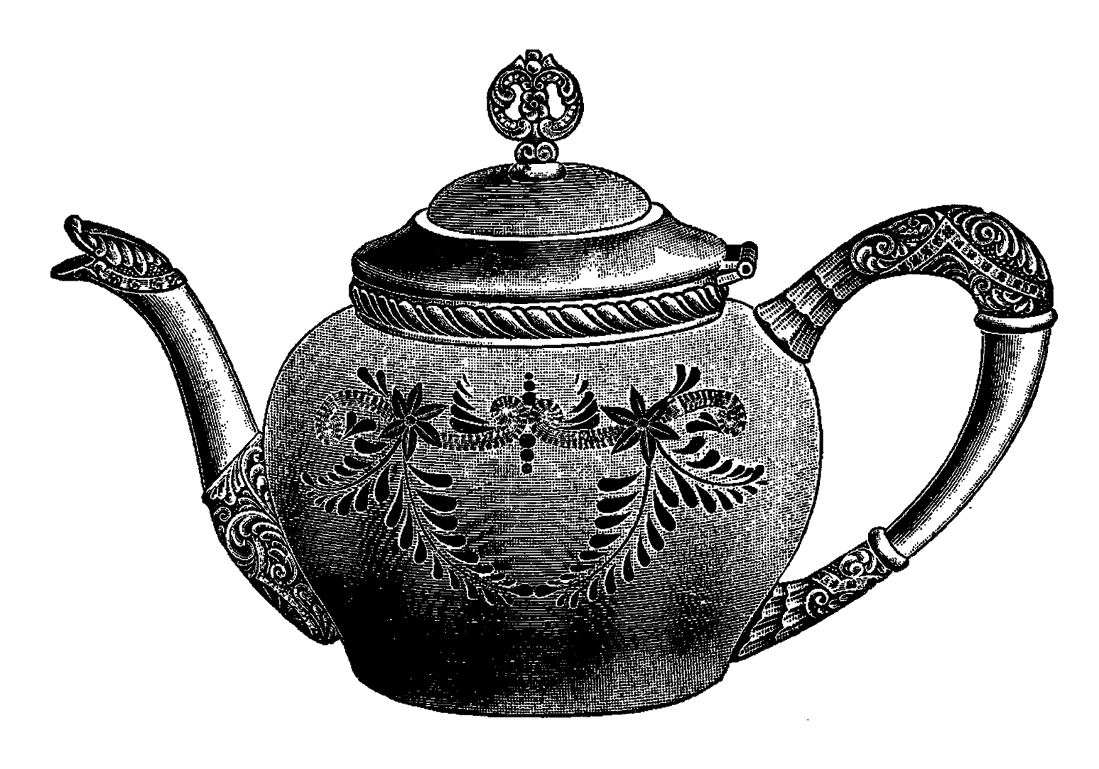 Free tea in a teapot high resolution clip art all free picture.