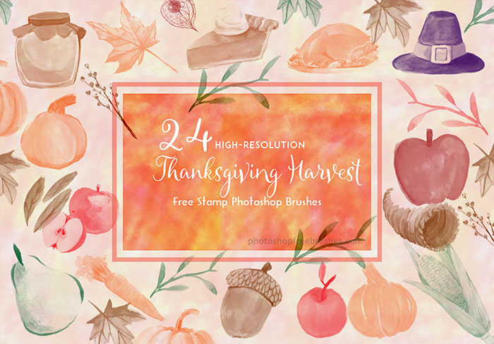 Thanksgiving Clip Art Brushes: 18 Free Images to Collect.