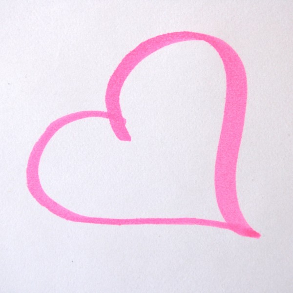 Heart Drawn in Pink Magic Marker Picture.