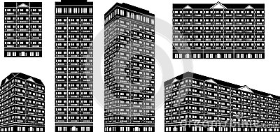 High Rise Condominiums Stock Illustrations.