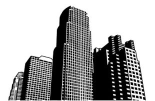 High Rise Building Silhouette clip art.