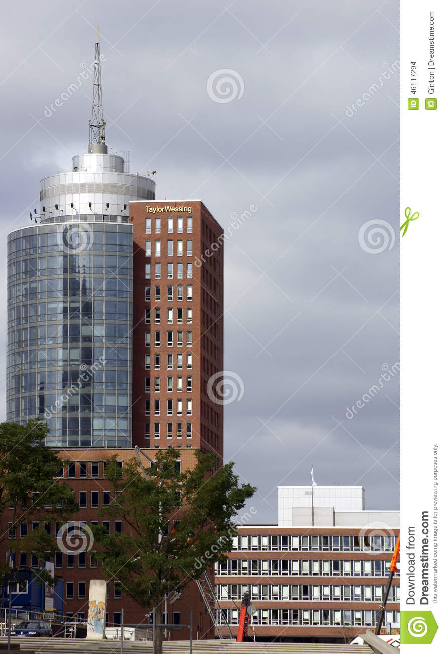 Taylor Wessing Building Hamburg Editorial Stock Image.