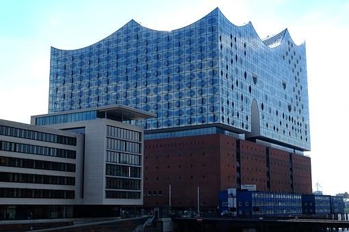 Modern, High, Rise, Building.