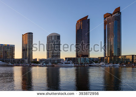 Docklands Dusk At Building Stock Photos, Royalty.