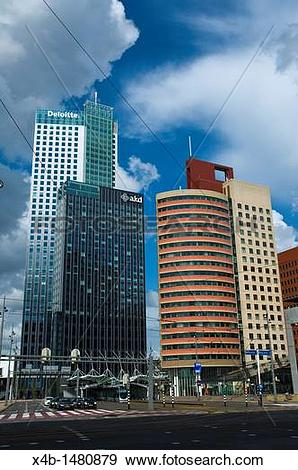 Stock Photograph of Maastoren and other high rise buildings at.