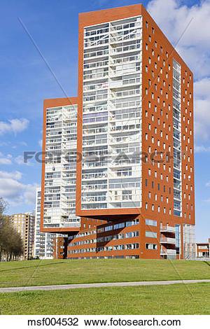 "Stock Photo of ""Netherlands, Rotterdam, Katendrecht, high."
