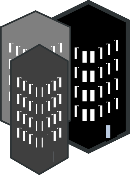 3 High Rise Silhouette Clip Art at Clker.com.