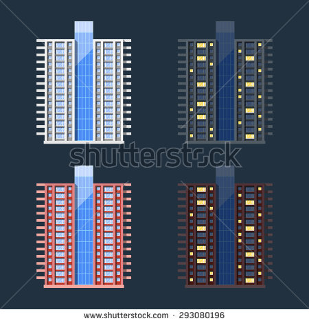 High Rise Apartment Stock Images, Royalty.