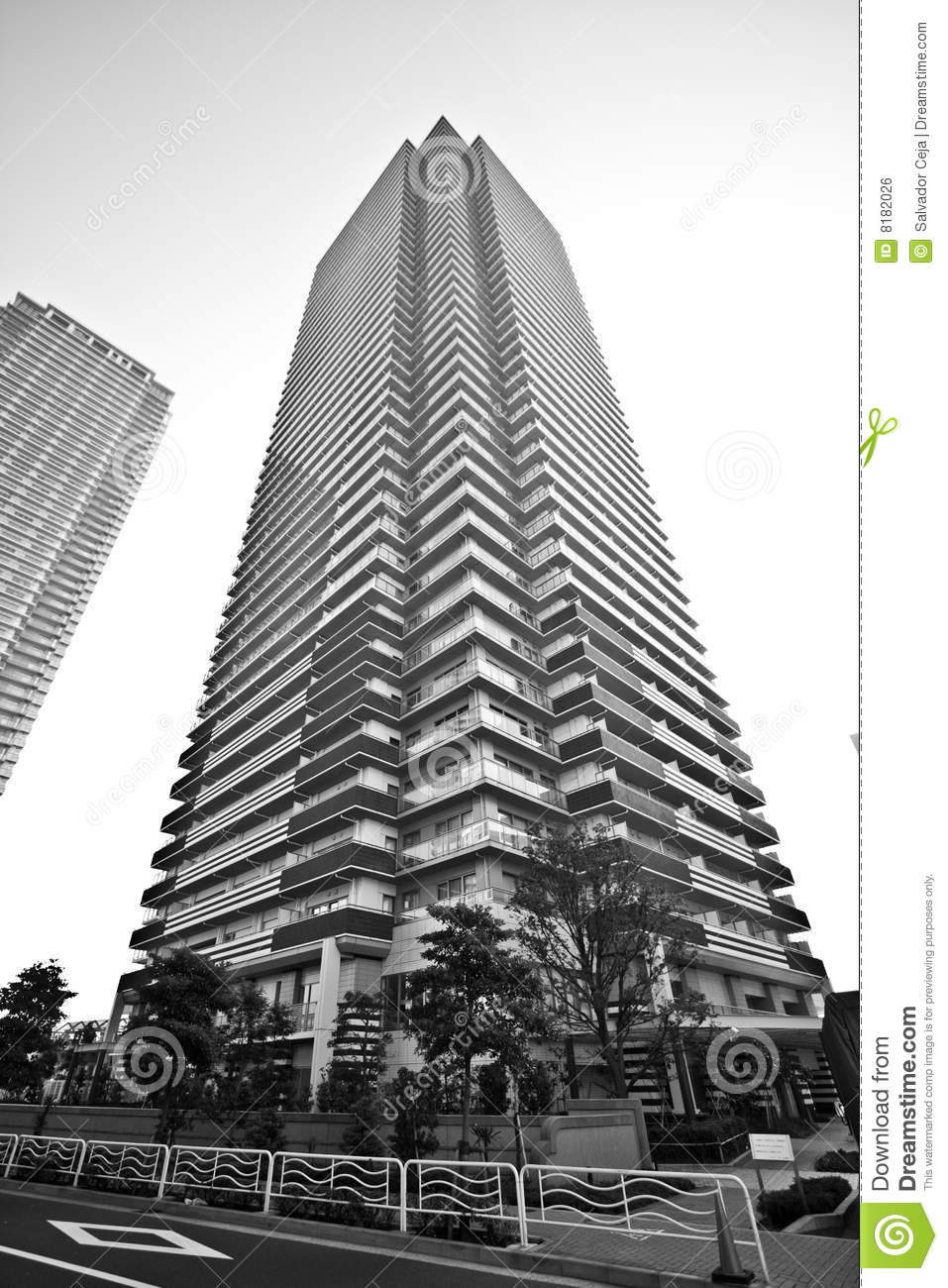 High Rise Residential Tower Royalty Free Stock Image.