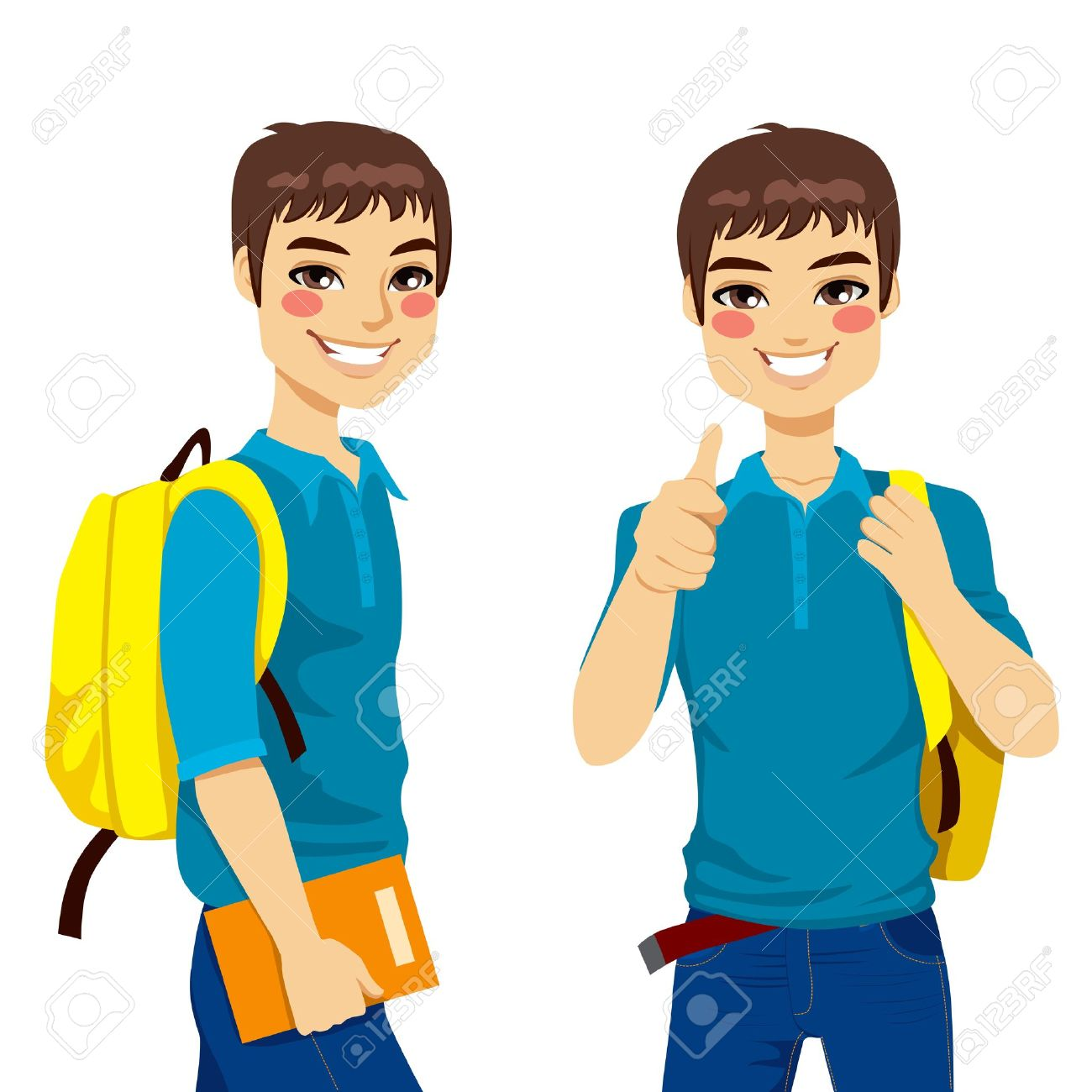 1,844 High School Boys Cliparts, Stock Vector And Royalty Free.