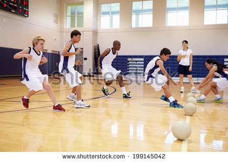 School Gym Stock Images, Royalty.