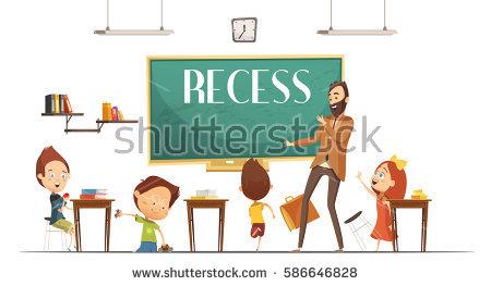 Set Children Teacher School Stock Vector 100460932.