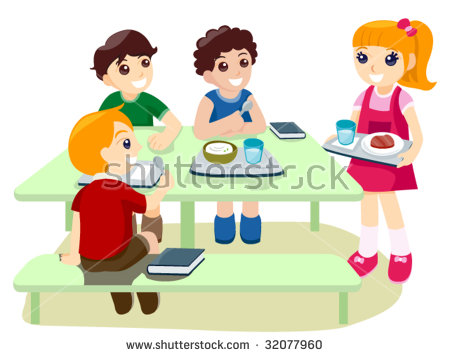 School Canteen Stock Images, Royalty.