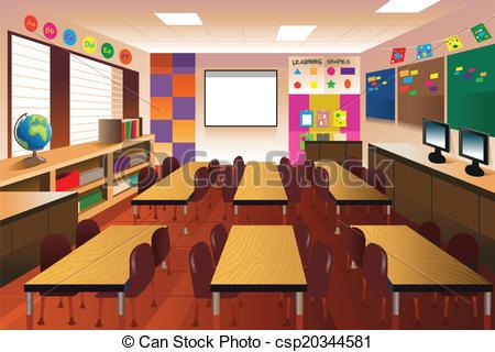 Empty School Classroom Clipart.