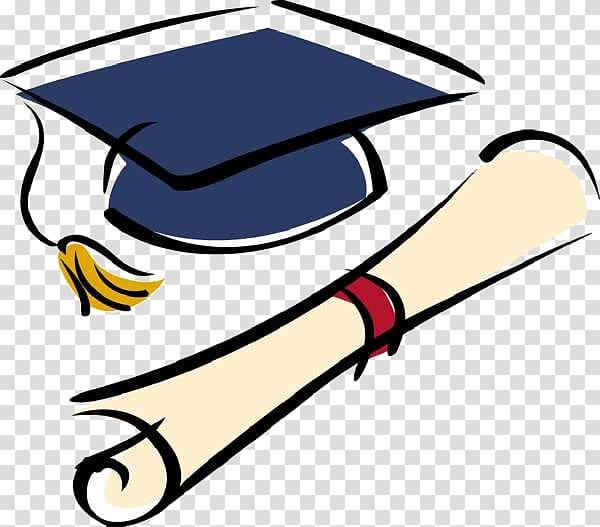 Mortar board and diploma , Graduation ceremony National Secondary.