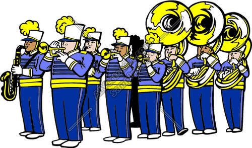 2892 Band free clipart.