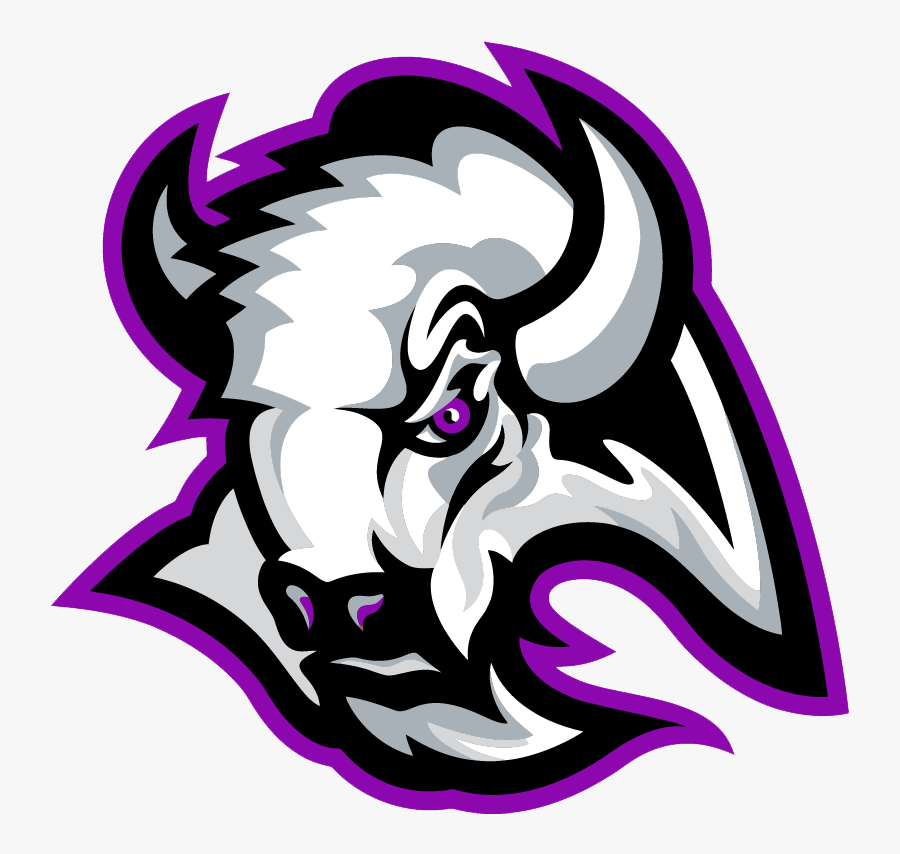 Transparent Bison Mascot Clipart.