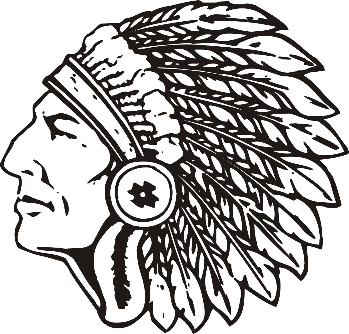 High School Indian Mascot Clipart.