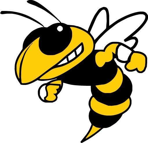 Yellow Jacket Mascot Clip Art.