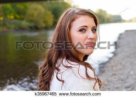 Stock Image of High School Senior Portrait Outdoors k35967465.