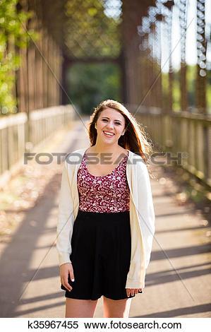 Stock Image of High School Senior Portrait Outdoors k35967455.