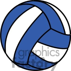 High School Volleyball Clipart.