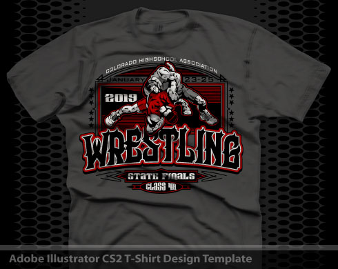 Wrestling designs for t shirts
