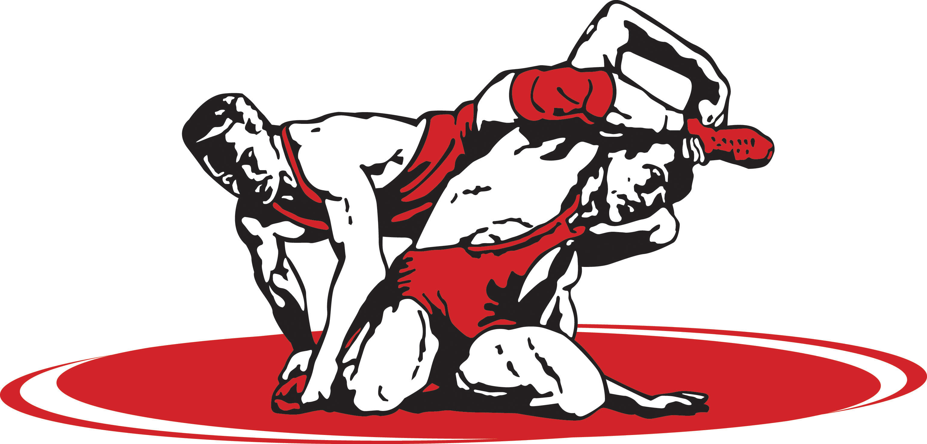 High School Wrestler Clipart.
