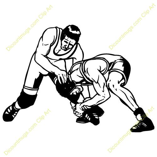 High School Wrestler Clipart.