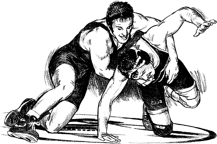 Wrestlers Vector High School Wrestling.