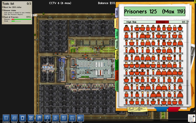 My Maximum Security Prison W/ 125 Prisoners (Experiment.