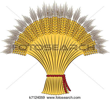 Clip Art of sheaf of wheat k7124059.