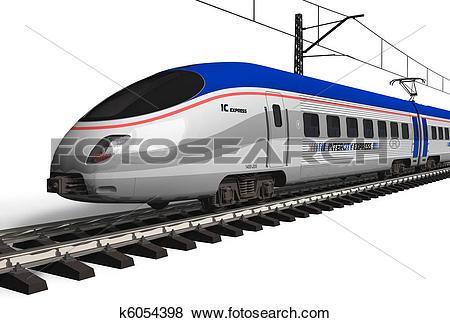 Stock Illustration of Modern high speed train k6054398.