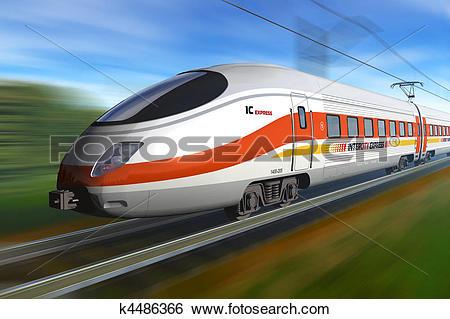 Stock Illustration of Modern high speed train k4486366.