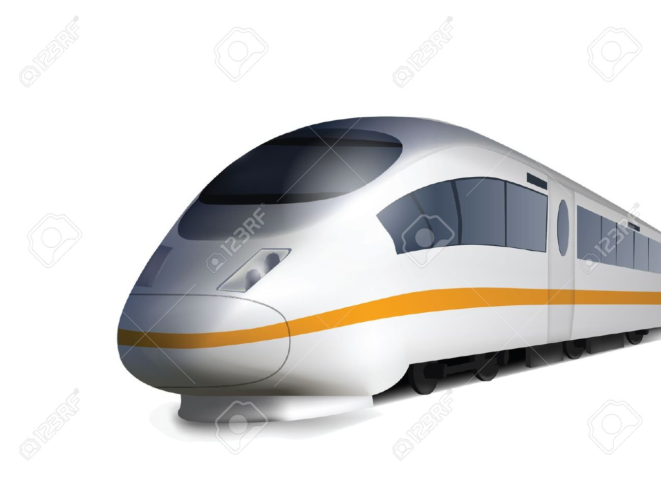 High Speed Train Isolated On White Royalty Free Cliparts, Vectors.