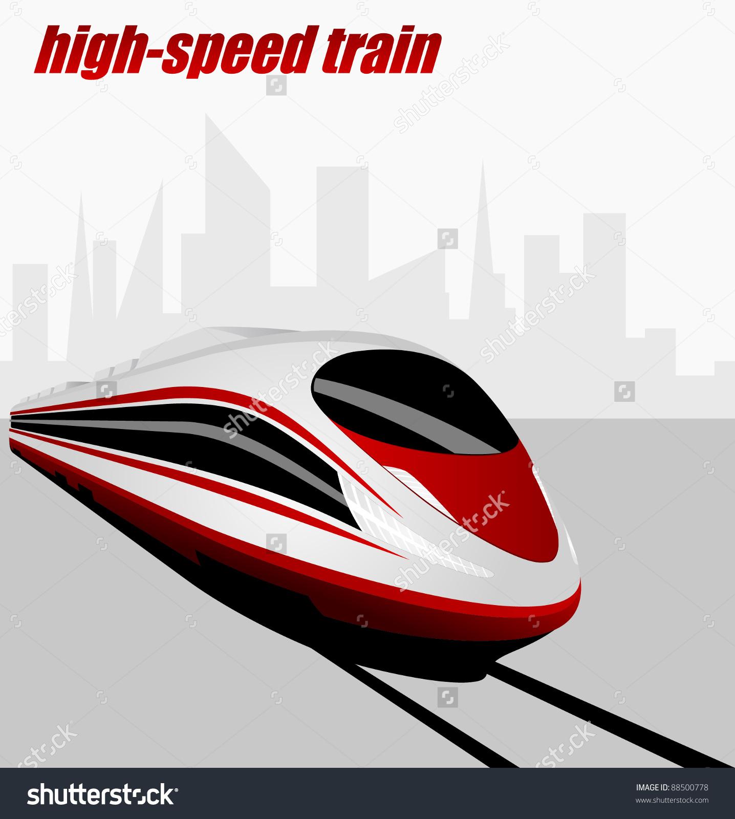 Modern High Speed Train Stock Vector Illustration 88500778.