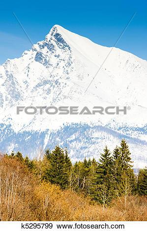 Stock Photograph of Krivan, Vysoke Tatry (High Tatras), Slovakia.
