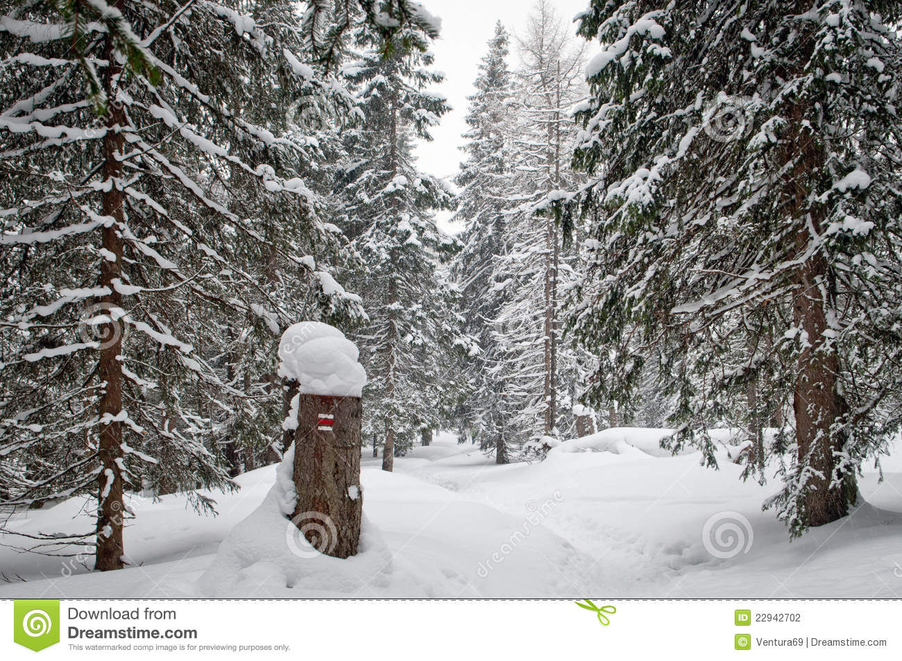 Hiking In Snow Clipart.