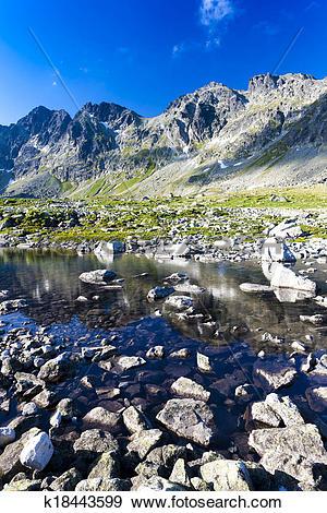 Stock Photograph of Mengusovska Valley, Vysoke Tatry (High Tatras.