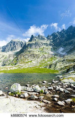 Stock Photo of Five Spis Tarns, High Tatras (Vysoke Tatry.